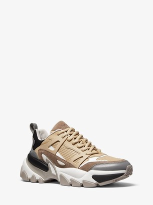 Michael Kors Nick Leather and Suede Trainer