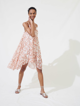 Maje Printed dress with thin straps