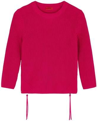 HUGO Raspberry Cotton Jumper