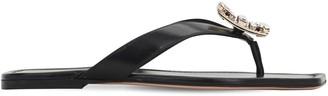 Roger Vivier 10mm Mini Rvbroche Leather Thong Sandals