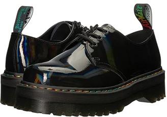 Dr. Martens 1461 Rainbow Patent Quad (Black Rainbow) Lace up casual Shoes