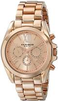 Akribos XXIV Women's Ultimate Swiss Quartz Multifunction Rose-tone Bracelet Watch