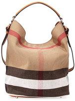 Burberry Susanna Medium Check Canvas Tote Bag, Saddle Brown