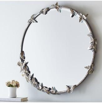 Pottery Barn Kids Monique Lhuiller Butterfly Mirror, 87.6 x 90.2cm, Silver