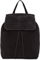 Mansur Gavriel Black Suede Backpack