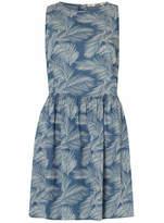 Dorothy Perkins Palm Print Denim Dress