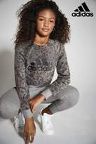 Next Girls adidas Grey Tapered Pant - Grey