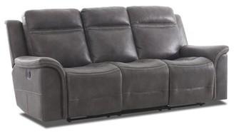 Ruvalcaba Leather Reclining Sofa Charlton Home Fabric: Domanic Charcoal