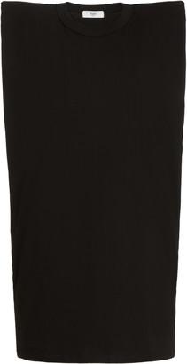 The Frankie Shop Tina Padded-Shoulder Cotton T-Shirt Dress