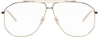 Gucci Gold Metal Square Glasses