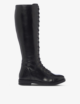 Bertie Thimble lace-up leather knee-high boots