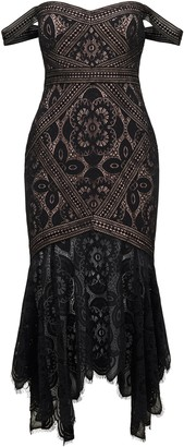 Forever New Tegan lace dress - Black - 6