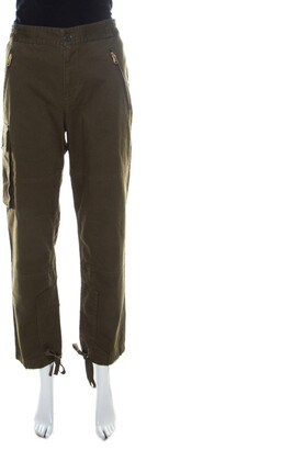 Marc by Marc Jacobs Peat Green Cotton Stretch Elasticized Waist Cargo Pants S