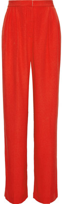 Rosetta Getty Pleated Crepe Wide-leg Pants