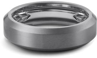 David Yurman Men's 6.5mm Beveled Edge Titanium Band Ring