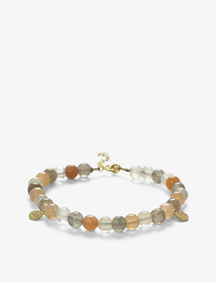 THE ALKEMISTRY Cinta 18ct yellow gold and moonstone mix beaded bracelet