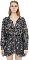 Isabel Marant Floral Print Silk Satin Shirt