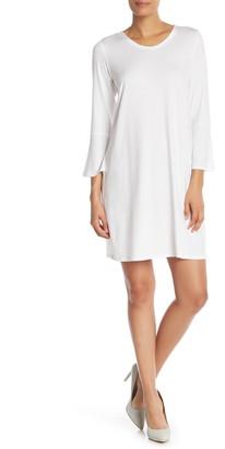 Eileen Fisher Scoop Neck Solid Dress