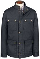Charles Tyrwhitt Navy Weekend Cotton Coat Size 36