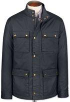 Navy Weekend Cotton Coat Size 38 Regular By Charles Tyrwhitt