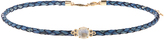 Jacquie Aiche Diamond, moonstone, leather & yellow-gold choker