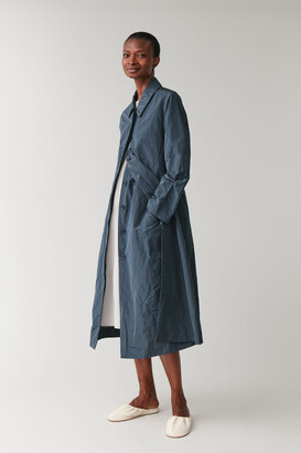 Cos Crinkled Technical Trench Coat