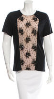Jason Wu Lace-Trimmed Short Sleeve Top