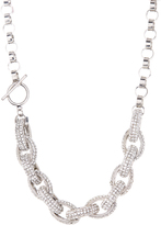 Love Rocks Crystal & Silvertone Link Necklace