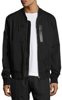 Juun.J Juun J Classic Bomber Jacket with Leather Trim, Black