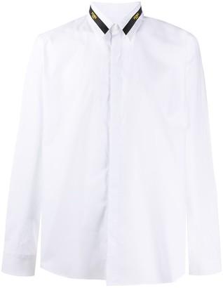 Fendi Logo-Collar Long-Sleeve Shirt