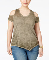 Style&Co. Style & Co Plus Size Cold-Shoulder Top, Only at Macy's