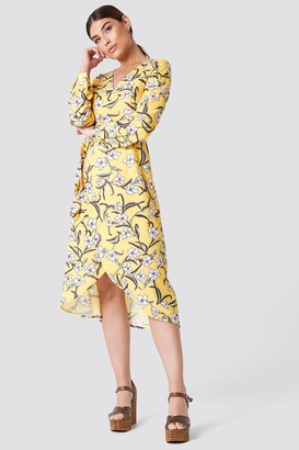 Rut & Circle Flower LS Wrap Dress