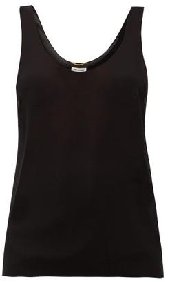 Saint Laurent Silk-georgette Cami Top - Black