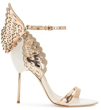 Sophia Webster Evangeline Metallic Leather Sandals