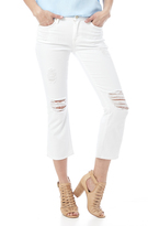 7 For All Mankind Cropped Bootcut Destroyed Jean