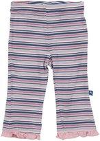 Kickee Pants Print Ruffle Pants (Baby)-Sailaway Stripe - Girl-0-3 Months