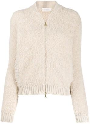 Zanone Textured Knitted Cardigan