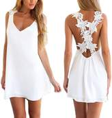 I'MQueen Knee Length Lace Evening Plus Size Club Beach Cover Up Dress for Ladies