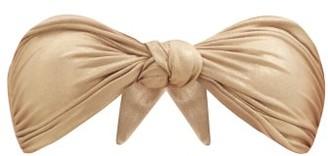 Sara Cristina Marina Knotted-front Bandeau Bikini Top - Gold