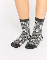 Asos Holidays Glitter Fairisle Socks