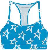 Perfect Moment Printed Stretch Sports Bra - Blue