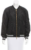 Class Roberto Cavalli Perforated Bomber Jacket w/ Tags