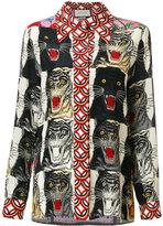 Gucci animal print shirt - women - Silk - 40