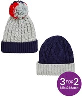 Very Boys Knitted Hats - 4-7 Years