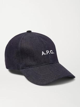 A.P.C. Logo-Embroidered Denim Baseball Cap