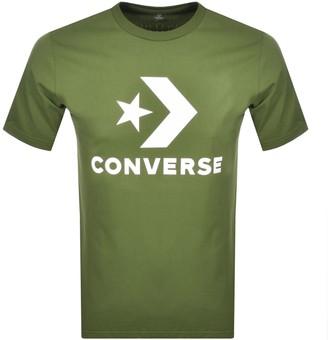 Converse Star Chevron Logo T Shirt Green