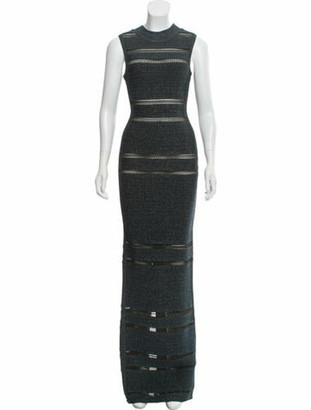Herve Leger Bandage Evening Gown blue