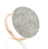 Monica Vinader Ava Diamond Disc Cocktail Ring