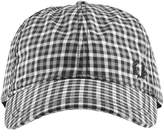Fred Perry Gingham Check Baseball Cap Grey