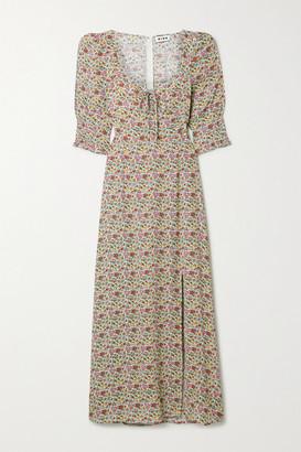 Rixo Naomi Floral-print Georgette Midi Dress - Pink